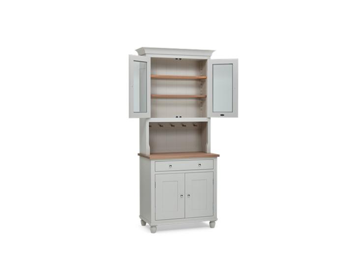 Suffolk 3ft Glazed Dresser Silver Birch 3Q Open ┬® Robert Smith 2020
