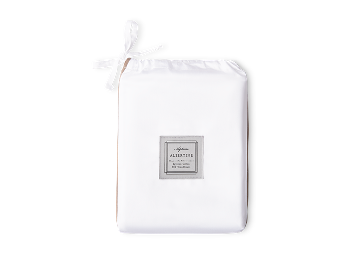Albertine Pillowcase Peat Housewife_Front