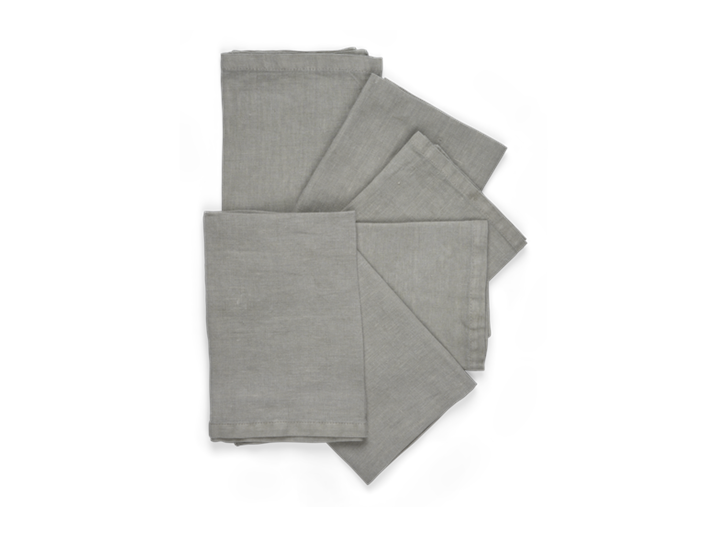Emily Linen Napkins Set of 6 Mist_Stack
