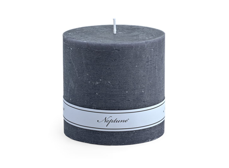 Blyton Charcoal 10x10 Pillar Candle