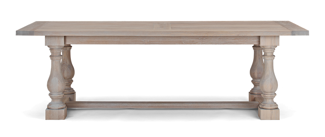 Balmoral 240 Rectangular Table_Seasoned Oak_Front