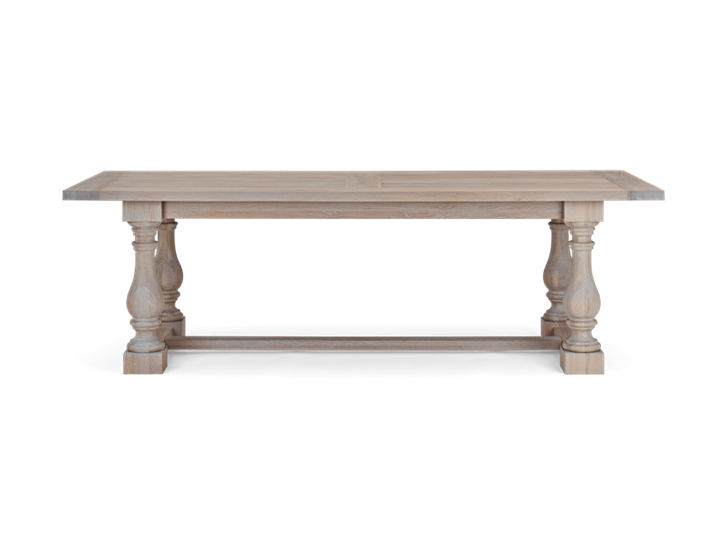 Balmoral 240 Rectangular Table_Seasoned Oak_Front