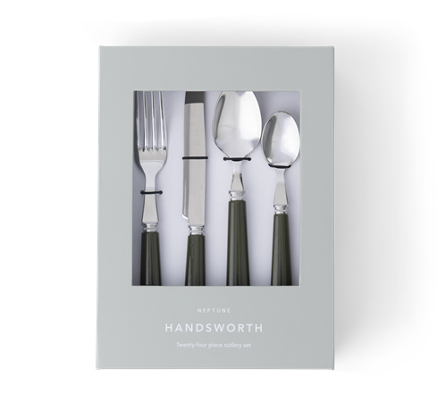 Handsworth cutlery Olive front in box