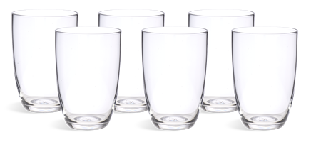 Barnes Tall Water Glasses, set of 6