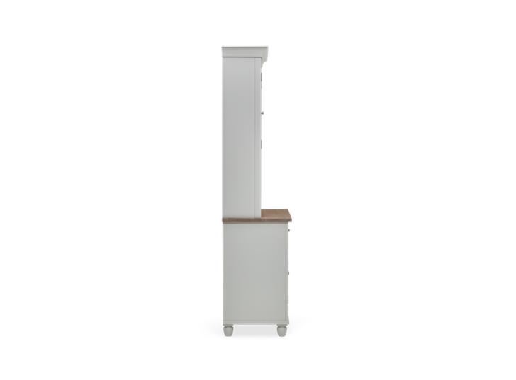 Suffolk 3ft Glazed Dresser Silver Birch 3Q Side