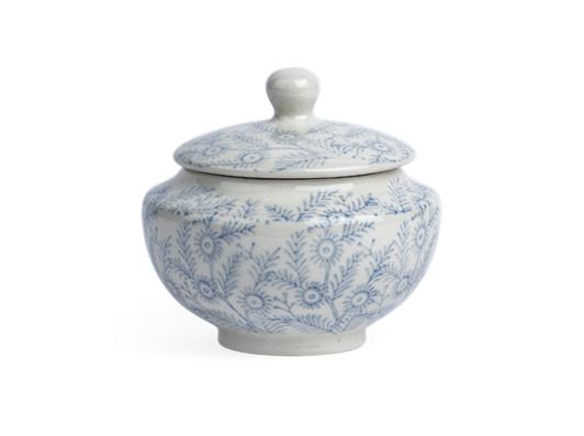 Olney Sugar Bowl - Flax Blue 1