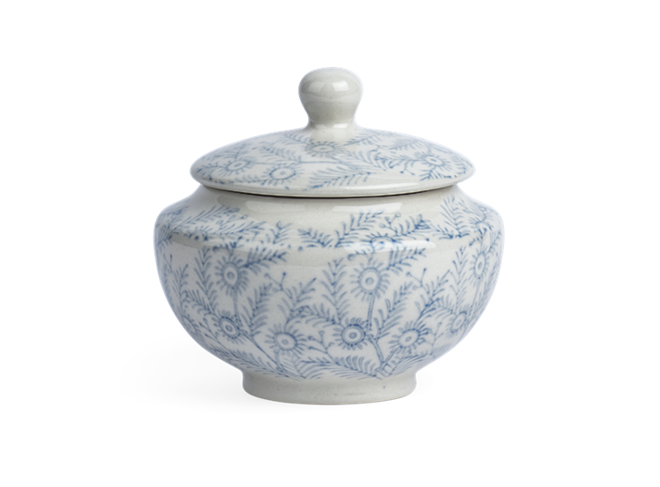 Olney Sugar Bowl - Flax Blue 1
