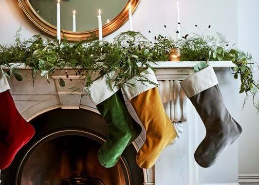 Isla velvet stockings