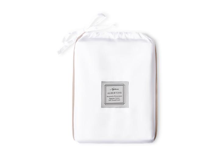 Albertine Pillowcase Grey Oak Housewife_Front