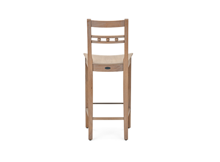 Suffolk Bar Stool_Seasoned Oak_Back