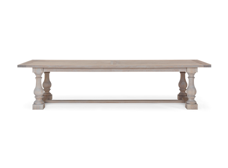 Balmoral 320 Rectangular Table_Seasoned Oak_Front