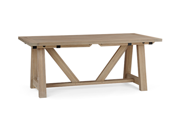 Arundel 184-274 Ext Table_Natural Oak_3Quarter