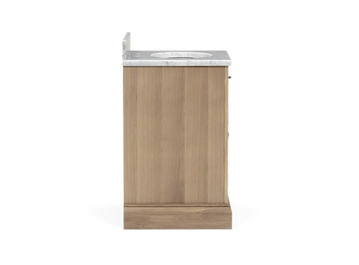 Edinburgh 640i Undermount Washstand With Basin Left-Door-VO-Vintage Oak Side