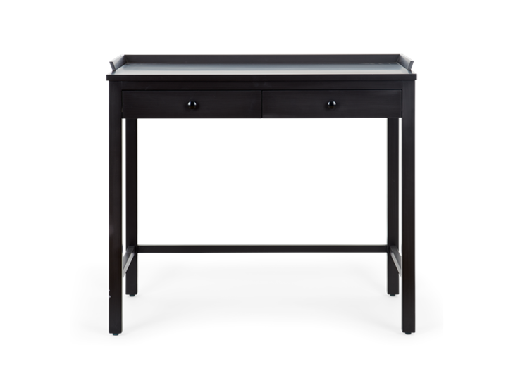 Aldwych dressing table Painted warm black_front