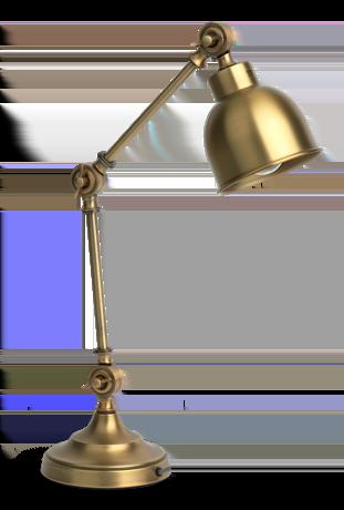 Brompton Desk Lamp Antique Brass
