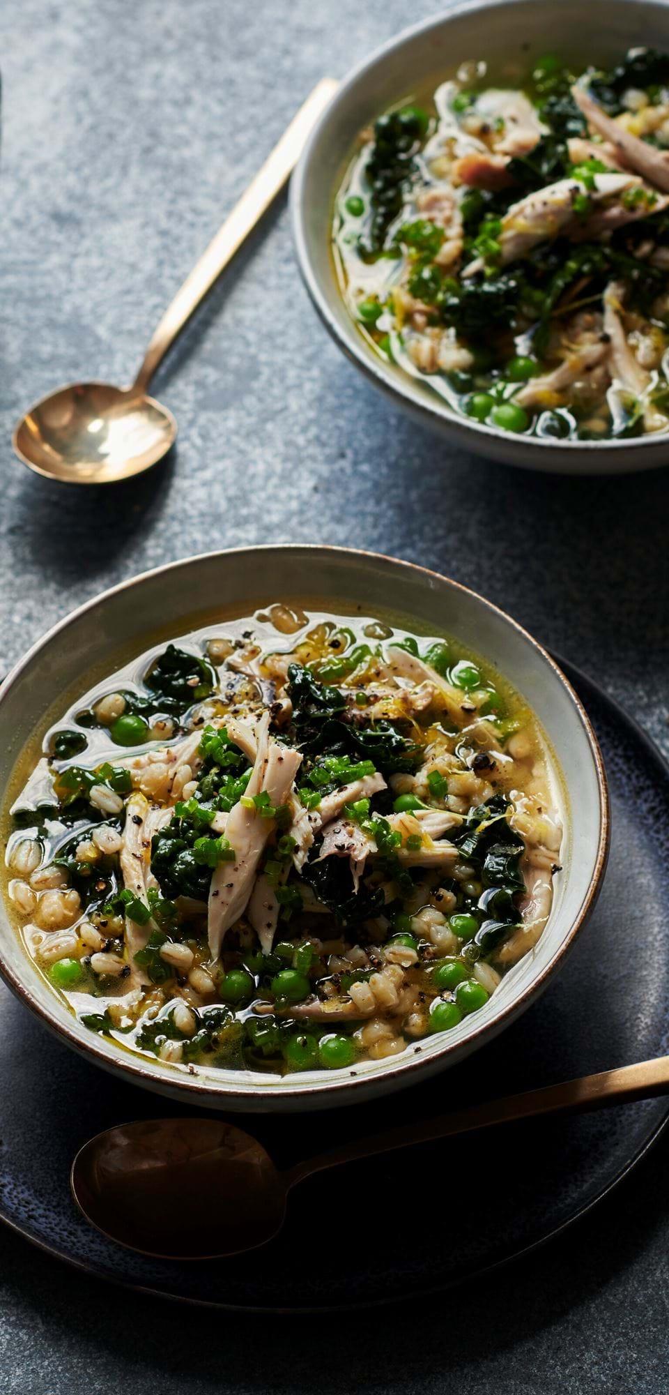 Chicken & pearl barley soup