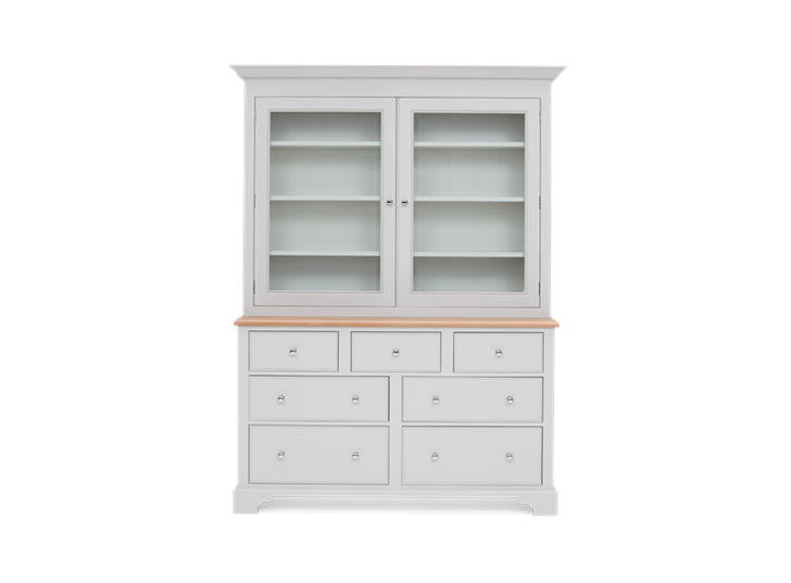 Chichester 5ft Glazed Rack Grand Dresser Top Front