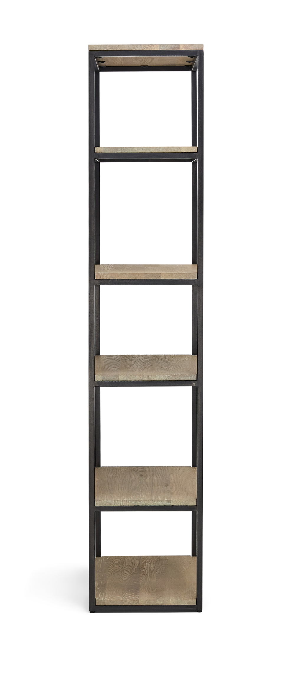 Carter 70 Bookcase Black Steel _ Dark Vintage Oak Side copy
