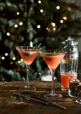 Christmas fig cocktails