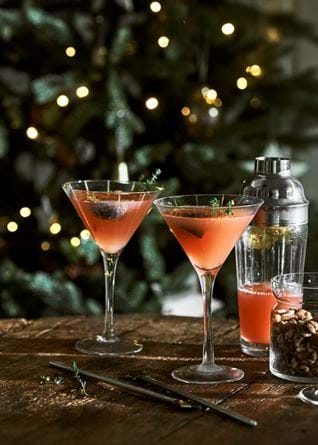 Christmas fig cocktails