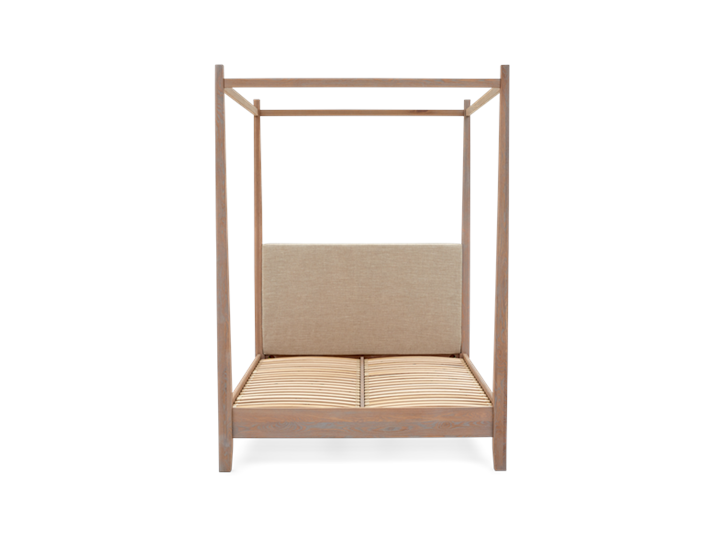 Wardley King Four Poster Bed Base Chalked Oak Holkam Sand Front