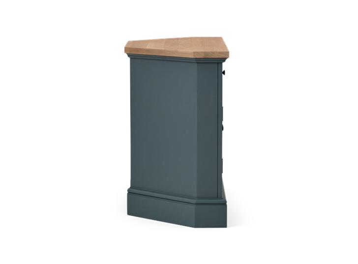 Henley 3ft 6in Corner AV Cabinet Smoke Side
