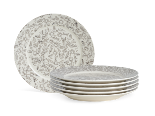Olney Side Plate Set of 6 Walnut_Stack