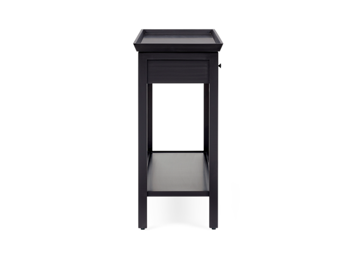 Aldwych large console Warm Black side