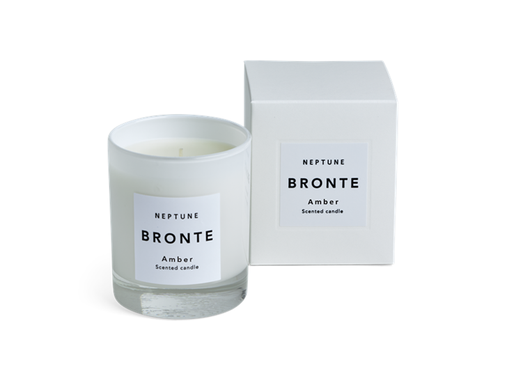 Bronte Amber Scented Candle, White Box