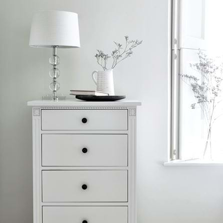 Burlington Small Crystal Lamp on Larsson Tallboy