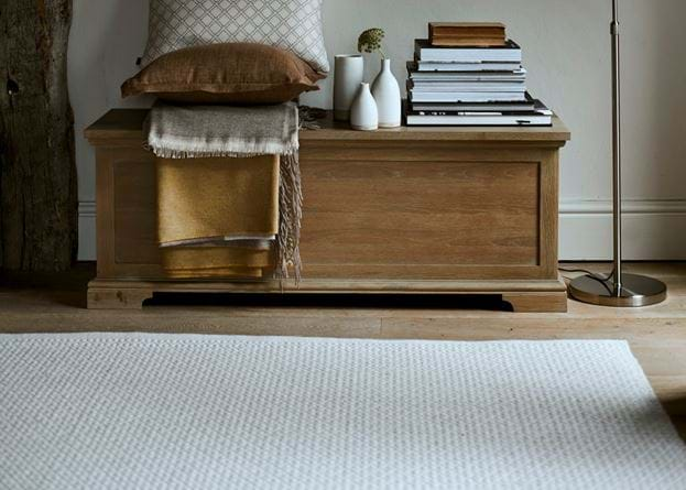 Longford off-white rug and Henley blanket box